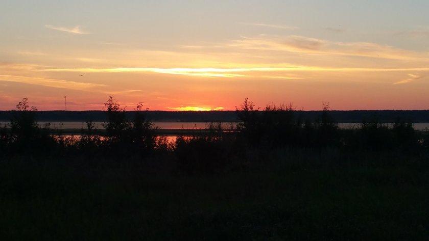 Sunset At Miquelon Lake