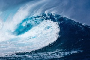 large breaking wave