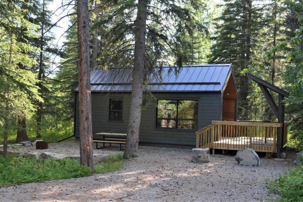 Comfort cabins at Castle Provincial Park