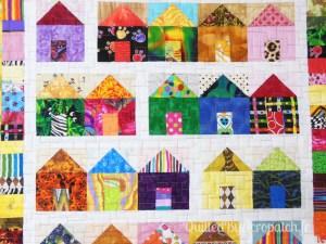 Acropatch-Scrappy_quilt-Motif-Quilting-Légo-fil-multicolore-détails