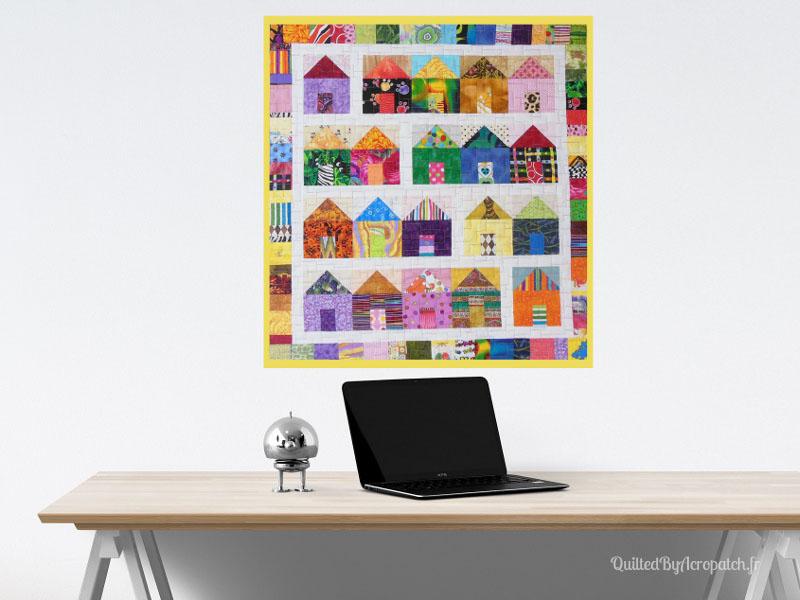 Acropatch-Scrappy_quilt-Motif-Quilting-Légo-fil-multicolore