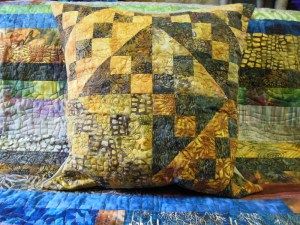 Acropatch-Motif-Quilting-RUBAN-taie-oreiller-fil-dégradé-doré