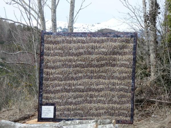 Acropatch-Panneau-mural-Motif-Quilting-TEMPETE-fil-dégradé-bleu-vue sur l'envers