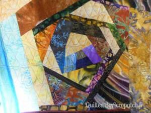 Acropatch-Protège-blocs-Motif-Quilting-OSCILLATION-fil multicolore-Après le quiltage