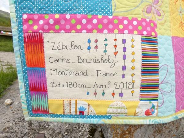 Acropatch-Plaid-Zébulon-Motif-Quilting-Medley-fil-multicolore pastel-étiquette