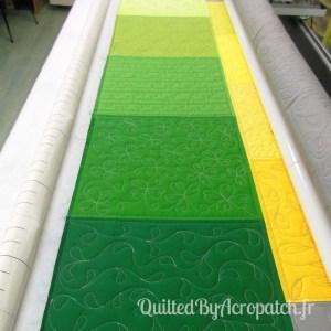Acropatch-Sampler-Motif-Quilting-fil-gris-plusieurs blocs après le quilting