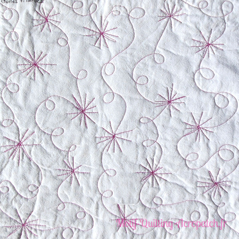 Acropatch-motif-quilting-ETOILE FILANTE