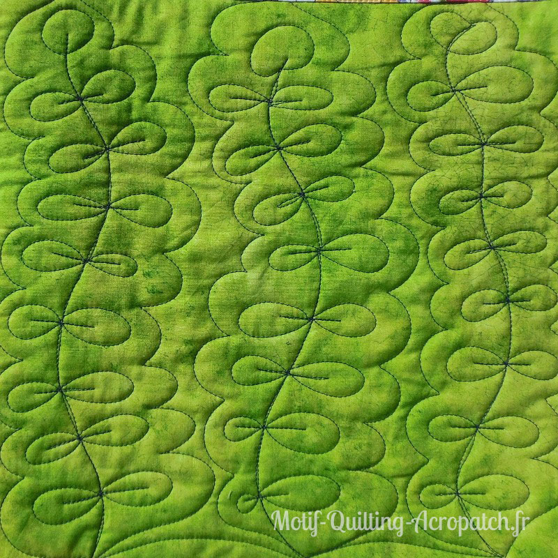 Acropatch-motif-quilting-PLANTE AQUATIQUE