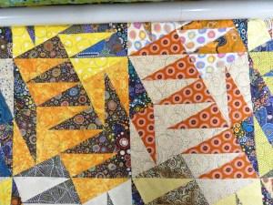 Panneau-mural-Aussie dream-Motif-Quilting-BULLE-fil-multicolore-après le matelassage