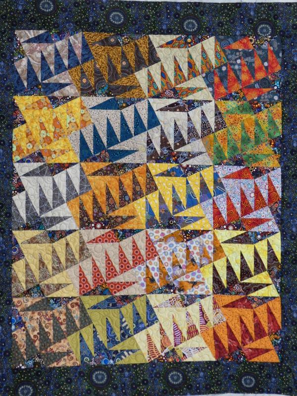 Panneau-mural-Aussie dream-Motif-Quilting-BULLE-fil-multicolore