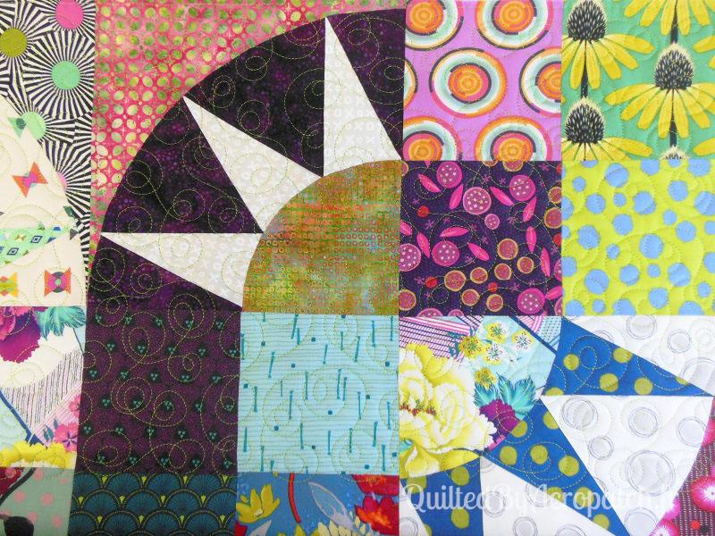 Panneau-mural-Motif-Quilting-Doubles_boucles-fil-uni-vert anis-après le quiltage