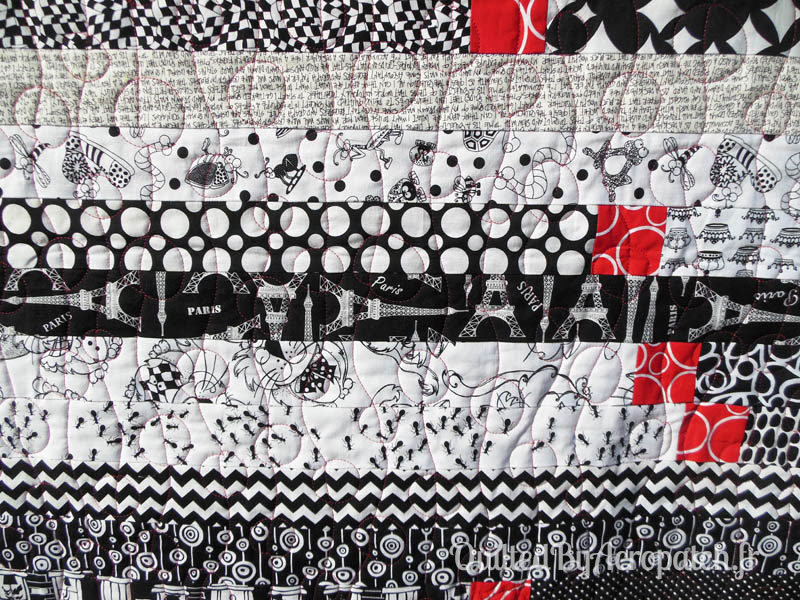 Acropatch-Plaid-Motif-Quilting-BALLON-fil-uni-rouge-détails