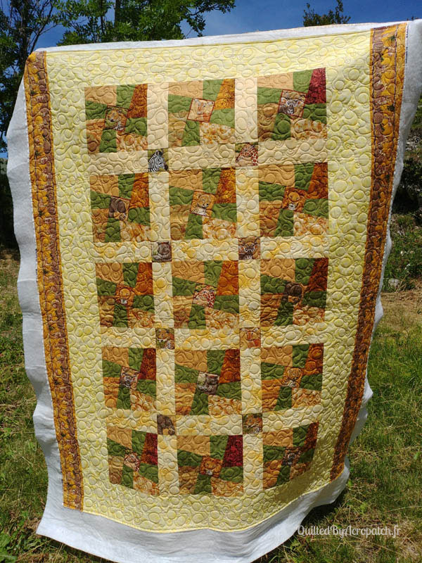 Couvre_lit-Twisted sisters-Motif-Quilting-BULLE-fil-multicolore