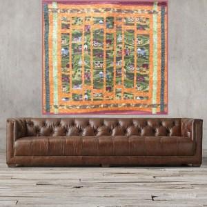 Acropatch-Paysage d'automne-Motif-Quilting-Ondulation-fil multicolore-158x151cm