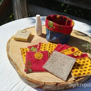 Pochon-lingette-lavable-tissus-provençal-jaune-rouge-PL110