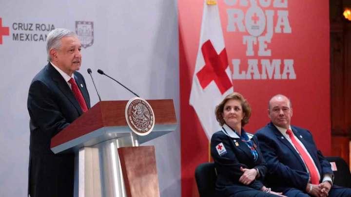 Convoca López Obrador para apoyar a la Cruz Roja