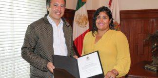 El gobernador Cuitláhuac García Jiménez reconoció que elnombramiento de Brenda Cerón Chagoya como comisionada estatal de búsqueda se hizo porque nadie más logró pasar el examen.