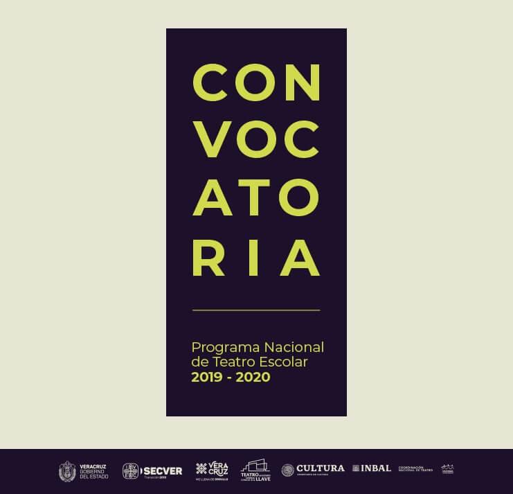 El Instituto Veracruzano de la Cultura (IVEC) y el Instituto Nacional de Bellas Artes y Literatura, por conducto de la Coordinación Nacional de Teatro, convocan a los creadores de la disciplina de teatro del estado de Veracruz a participar en el Programa Nacional de Teatro Escolar 2019-2020.