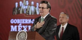 El secretario de Relaciones Exteriores, Marcelo Ebrard informó que hasta el momento hay 35 países, cinco agencias de cooperación y ocho organismos internacionales que apoyan la iniciativa mexicana de generar empleo en las regiones expulsoras de migrantes en Centroamérica.
