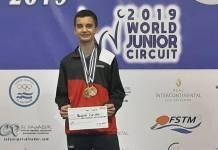 El tenismesista veracruzano Rogelio Castro Hernández finalizó con una gran actuación su participación en el ITF El Salvador World Junior & Cadet Open 2019, en donde se agenció dos medallas de oro y un bronce en esta justa internacional.