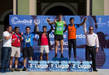 Más de mil personas participaron en la octava edición de la Carrera Tratados de Córdoba celebrada este día en sus diferentes categorías que incluyeron rutas de cinco y diez mil metros, y una categoría para personas con discapacidad.