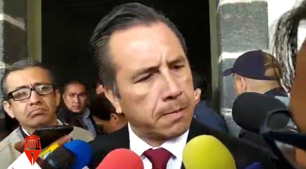 El gobernador Cuitláhuac García Jiménez aseguró qué hay paz en los 212 municipios en el estado para que se realice la ceremonia del Grito de Independencia.