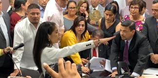 Verónica Hernández Giadans tomó posesión al cargo de Fiscal General del Estado, tras la destitución temporal de Jorge Winckler Ortiz.