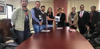 Este jueves, se llevó a cabo en la Universidad de Xalapa la firma de convenio con el departamento de medios audiovisuales de la Universidad Veracruzana (UV).