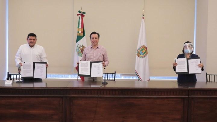 Bienestar y Veracruz firman convenio para sembrar 4 millones de plantas y mantener 68 mil empleos