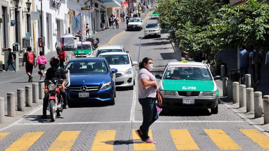 12 filtros en la zona Centro de Xalapa, se pretende reducir la movilidad y así el riesgo de contagio
