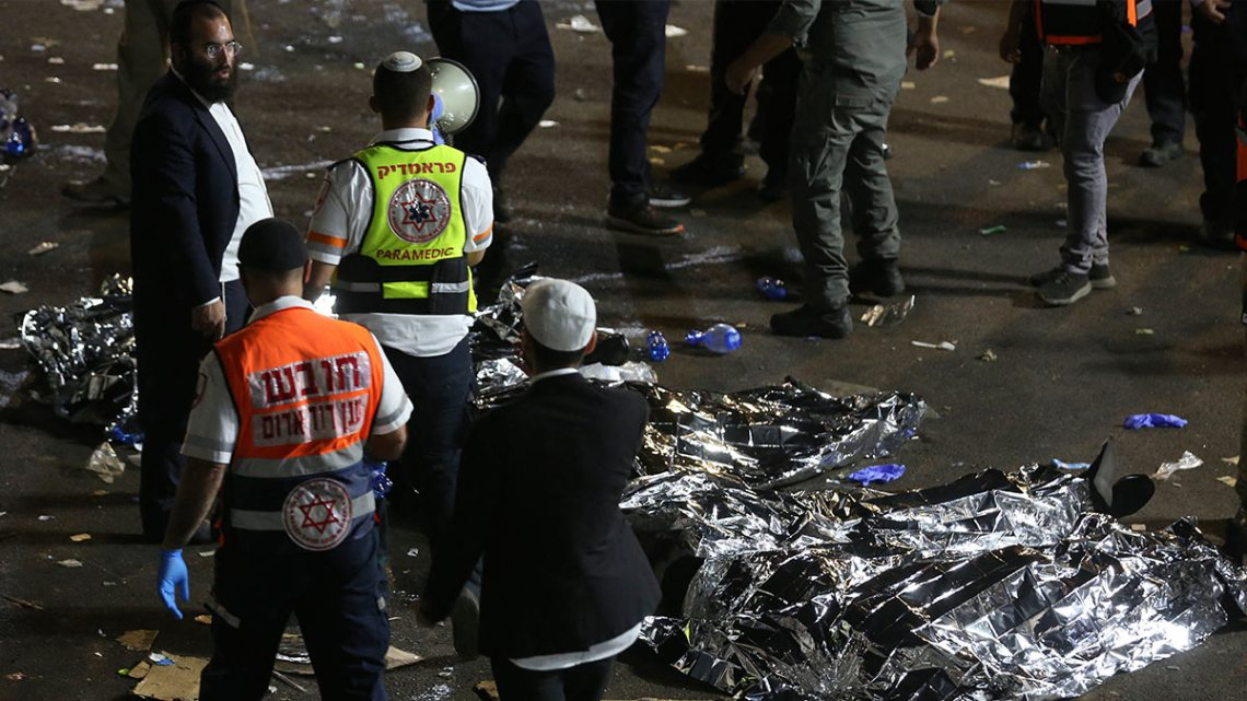 Estampida judía en Israel deja al menos 45 muertos