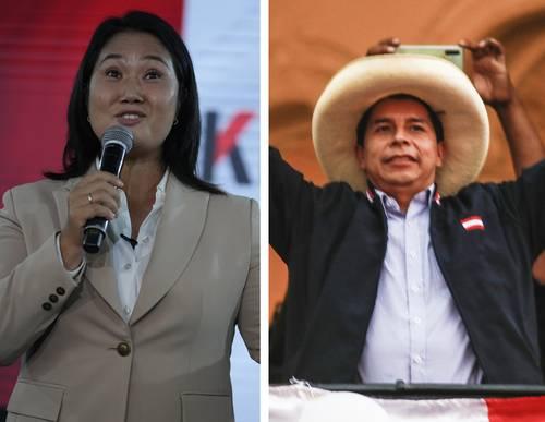 Termina el conteo en Perú; Castillo tiene 50.2% de votos por 49.8% de Fujimori