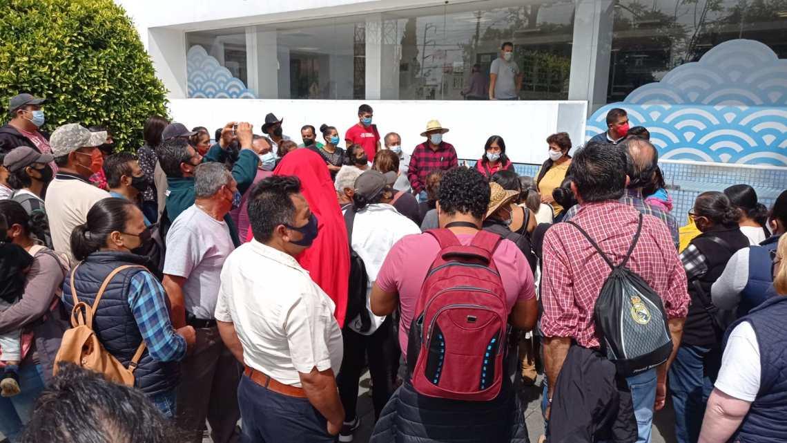 Antorchistas protestan en la CMAS