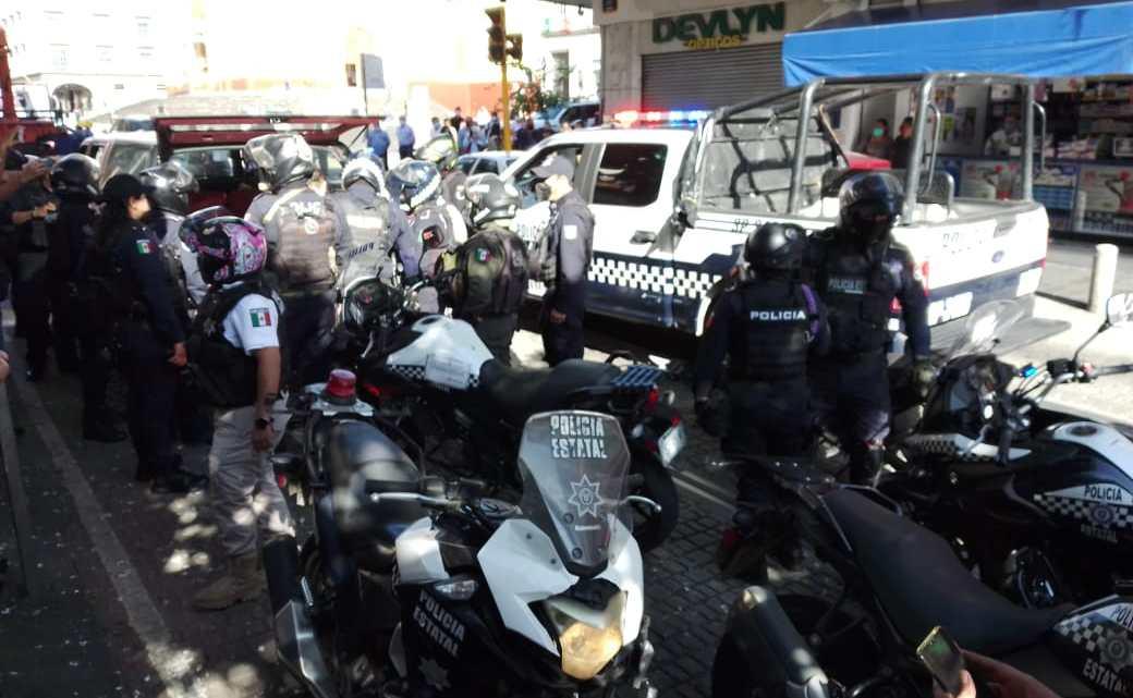 Aparatoso operativo policiaco en el centro de la ciudad