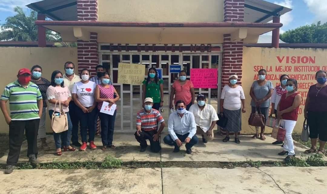 Maestros del Valle de Uxpanapa, denuncian que no han recibido sus salarios