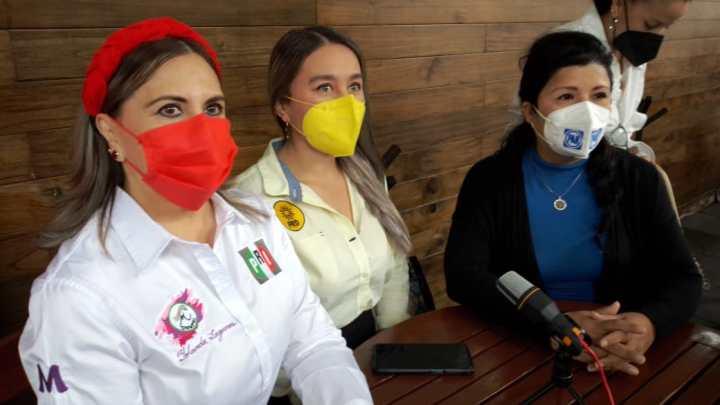 Féminas del PAN, PRI y PAN se unen en contra de violencia política