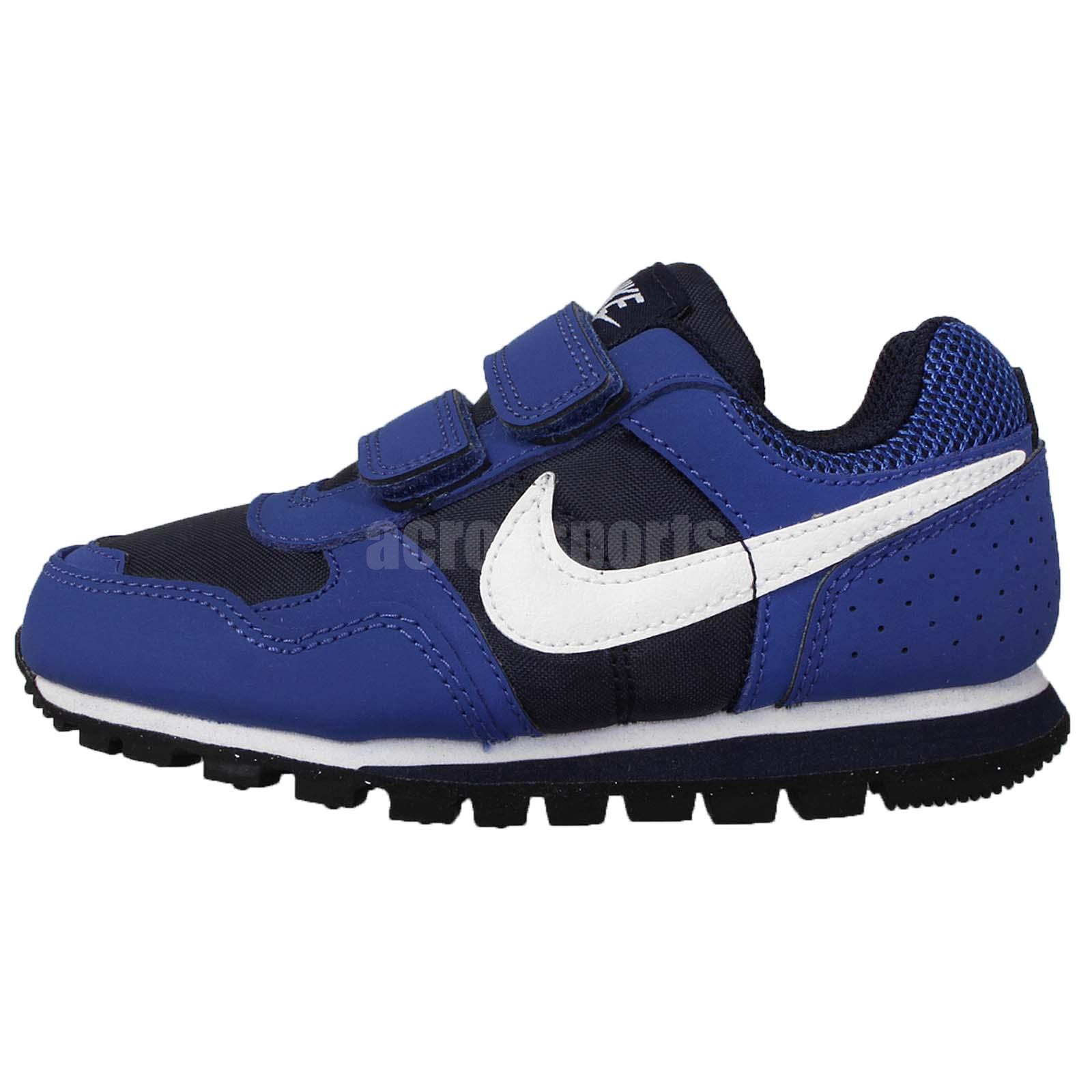 Nike Md Runner Psv Blue Navy White Preschool Boys Running Shoes