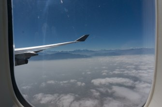 On your right you'll see spectacular views of the Andes