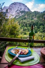 Amazing to find the best pizzas and red vino at the top of a mountain with no roads in and only pack horses to carry supplies in. Rewarding after our huge climb by foot today.