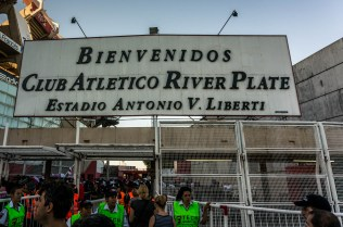 Welcome to River Plate stadium. Now if you'll just bend over for the security check...