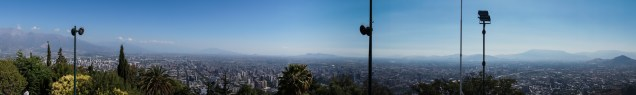 Santiago to the south