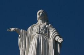Virign Mary up on Cerro (hill) San Cristobal