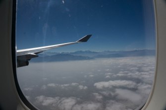 To the right is the spectacular Andes