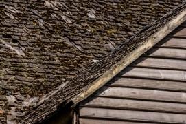 Shingled roof of an old Chiloen house.