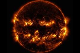 Jack-o-lantern sun NASA