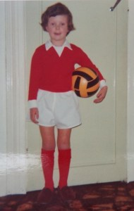 young Darren with football