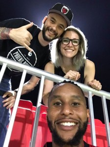 Matt Robards and wife with Phoenix Rising Amadou Dia