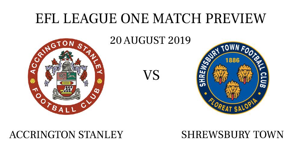 Accrington Stanley vs Shrewsbury Town 2019