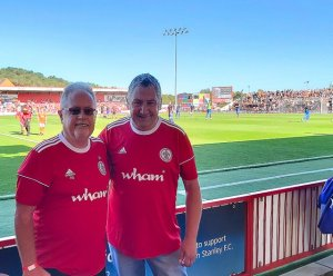 John Earnshaw and Tony Robinson at WHAM Stadium