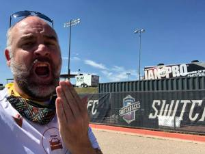 Arran at Colorado Switchbacks stadium